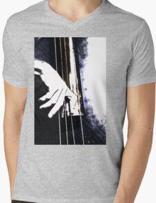 Jazz Bass Poster Mens V-Neck T-Shirt