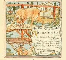The Baby's Own Aesop by Walter Crane 1908-41 The Dog and the Shadow by wetdryvac