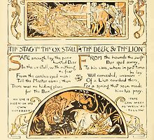 The Baby's Own Aesop by Walter Crane 1908-48 The Stag and the Ox, The Deer and the Lion by wetdryvac