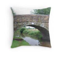 Bridge over the Ashby Canal Throw Pillow