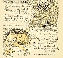 The Baby's Own Aesop by Walter Crane 1908-18 The Mouse and the Lion, The Married Mouse by wetdryvac