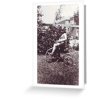 Betty on tricycle 1 Greeting Card
