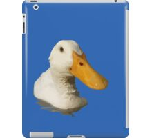 Close Up Portrait of A Cute Domestic White Duck Vector Style iPad Case/Skin