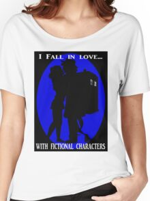 I fall in love with fictional characters- Dr Who Women's Relaxed Fit T-Shirt