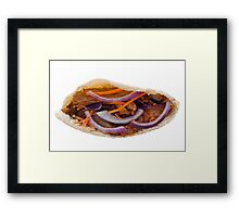 Chicken Kebab in a Pita Bread Framed Print