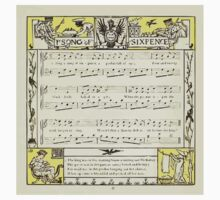 The Baby's Opera - A Book of Old Rhymes With New Dresses - by Walter Crane - 1900-39 Ye Song of Sixpence Kids Tee