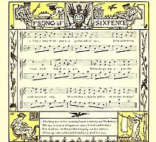 The Baby's Opera - A Book of Old Rhymes With New Dresses - by Walter Crane - 1900-39 Ye Song of Sixpence by wetdryvac