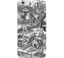 Pieter Bruegel the Elder - The Seven Deadly Sins or the Seven Vices - Disidia iPhone Case/Skin