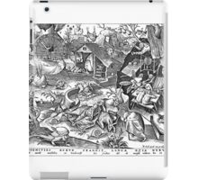 Pieter Bruegel the Elder - The Seven Deadly Sins or the Seven Vices - Disidia iPad Case/Skin