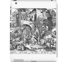 Pieter Bruegel the Elder - The Seven Deadly Sins or the Seven Vices - Invidia iPad Case/Skin