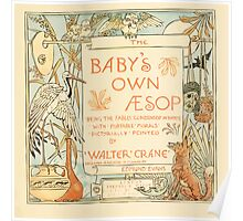 The Baby's Own Aesop by Walter Crane 1908-9 Title Plate Poster