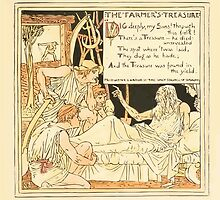 The Baby's Own Aesop by Walter Crane 1908-55 The Farmer's Treasure by wetdryvac