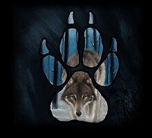 PAW PRINT Walking Wolf by WolfPathStudio