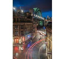 Tyne Night Lights Photographic Print