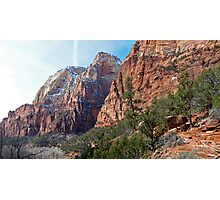 Zion National Park - Along a Hike - Panorama Photographic Print