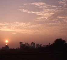 Sunrise at Chiang Mai by MartineDF