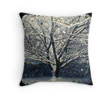 Winter Cherry Tree TtV  Throw Pillow