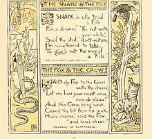 The Baby's Own Aesop by Walter Crane 1908-21 The Snake and the File, The Fox and the Crow by wetdryvac