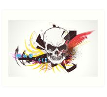 Digital Abstract Skull Art Print