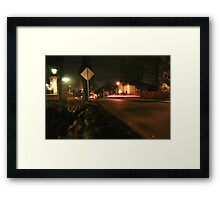 Red Back Light Street Framed Print