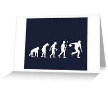 Ten Pin Bowling Evolution Shirt Greeting Card