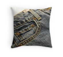 Blue Jeans Throw Pillow