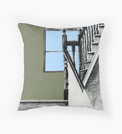 A Stairwell in Limerick Throw Pillow
