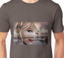Blue Eyes Blue Sepia Unisex T-Shirt