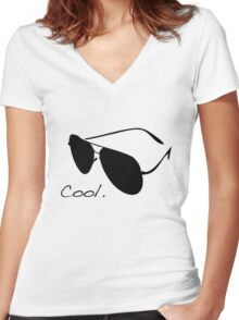 Cool. Women's Fitted V-Neck T-Shirt
