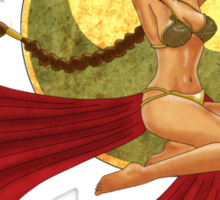 Slave Leia War Pin Up Sticker