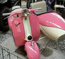 "Vespa ""pink"" Sidecar  by sstarlightss"