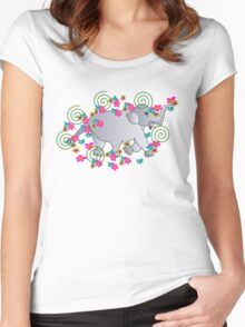 BabyElephant Women's Fitted Scoop T-Shirt