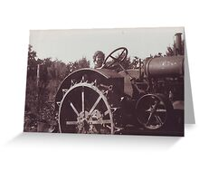 Tractor betty Greeting Card