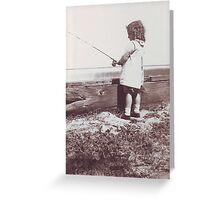 Fishing Betty Greeting Card
