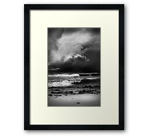Mostly fine, chance of a shower Framed Print