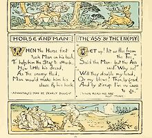 The Baby's Own Aesop by Walter Crane 1908-24 Horse and Man, The Ass and The Enemy by wetdryvac
