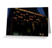 Stock Market Greeting Card