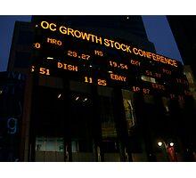 Stock Market Photographic Print
