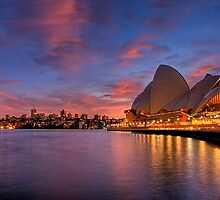 A new day dawns over the Opera House  by Kounelli