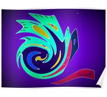 Abstract Bird Poster