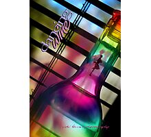 Bent Bottle Dancing Wine © Vicki Ferrari Photographic Print