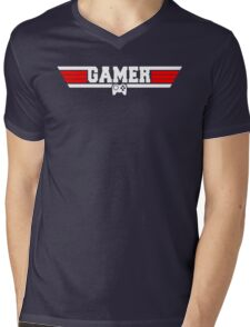 Top Gamer Mens V-Neck T-Shirt