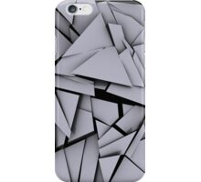 Shattered Grey Pieces iPhone Case/Skin