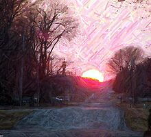 Country Sunset II in Easter Pastel by Bradley S. Hartman