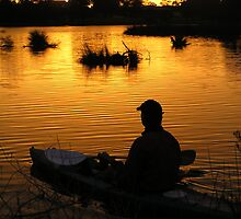 sunrise paddle on Canning River at Shelley by nick page