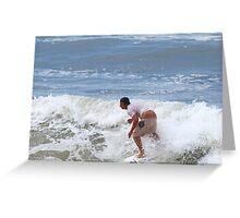 A crack shot ... Waves at Burleigh Beach  Greeting Card