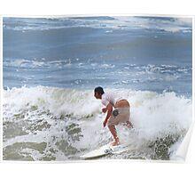 A crack shot ... Waves at Burleigh Beach  Poster