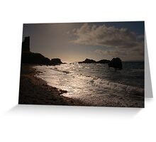 THE RUSH OF THE OCEAN WAVES Greeting Card