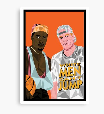 White Men Can't Jump - Geometric Poster Canvas Print