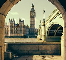 Big Ben Under The Arch by PatiDesigns